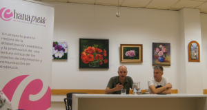Los hermanos Arias se deshicieron en elogios por la Semana Cultural de la Chana./Esther Godoy.